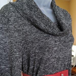 Studio One Dresses - Studio One Charcoal Grey Sweater Dress
